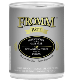 Fromm Fromm Gold Canned Dog Food CASE Beef, Chicken & Oats Pate 12.2 oz