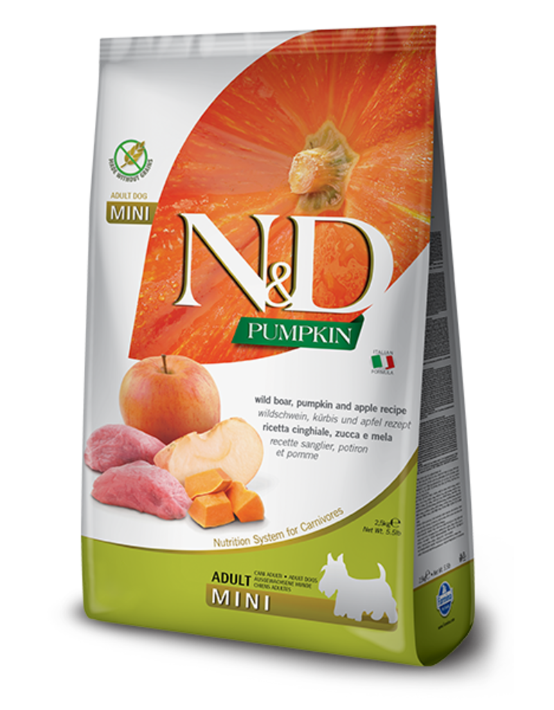 Farmina Pet Foods Farmina Grain Free Dog Kibble Mini Bites Pumpkin, Boar & Apple 5.5 lbs