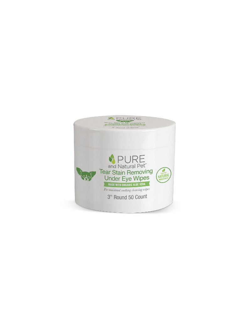 Pure and Naturals Pet Pure and Natural Pet | Organic Aloe Vera Tear Stain Removing Wipes 50 ct