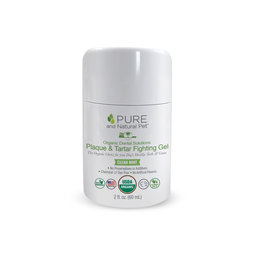 Pura Naturals Pet Pure and Natural Pet | Organic Dental Plaque & Tartar Fighting Gel Mint 2 oz