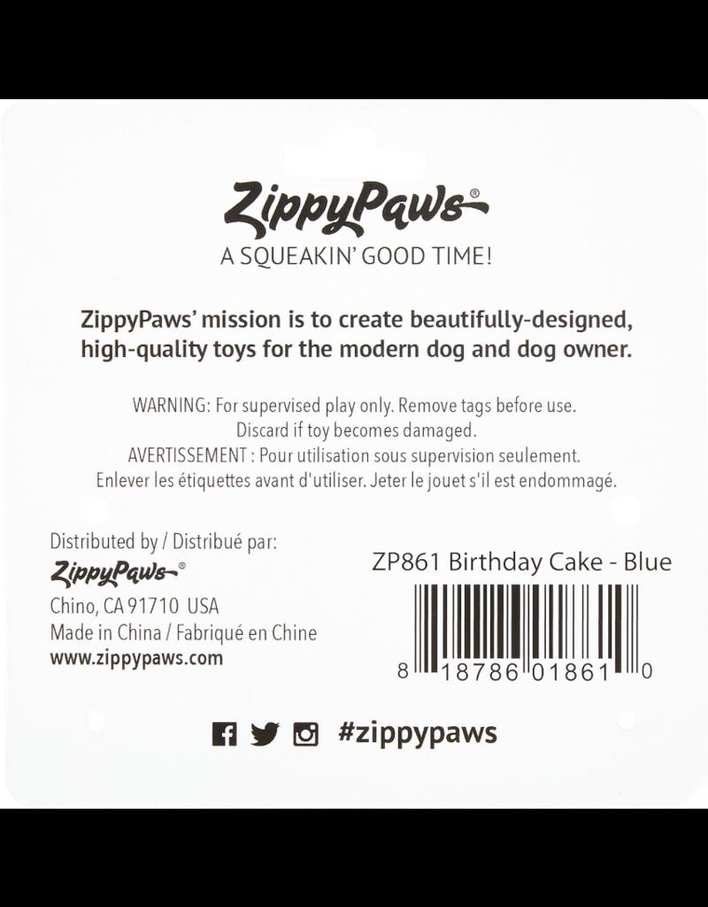 Zippy Paws Plush Toy | Birthday Cake Blue