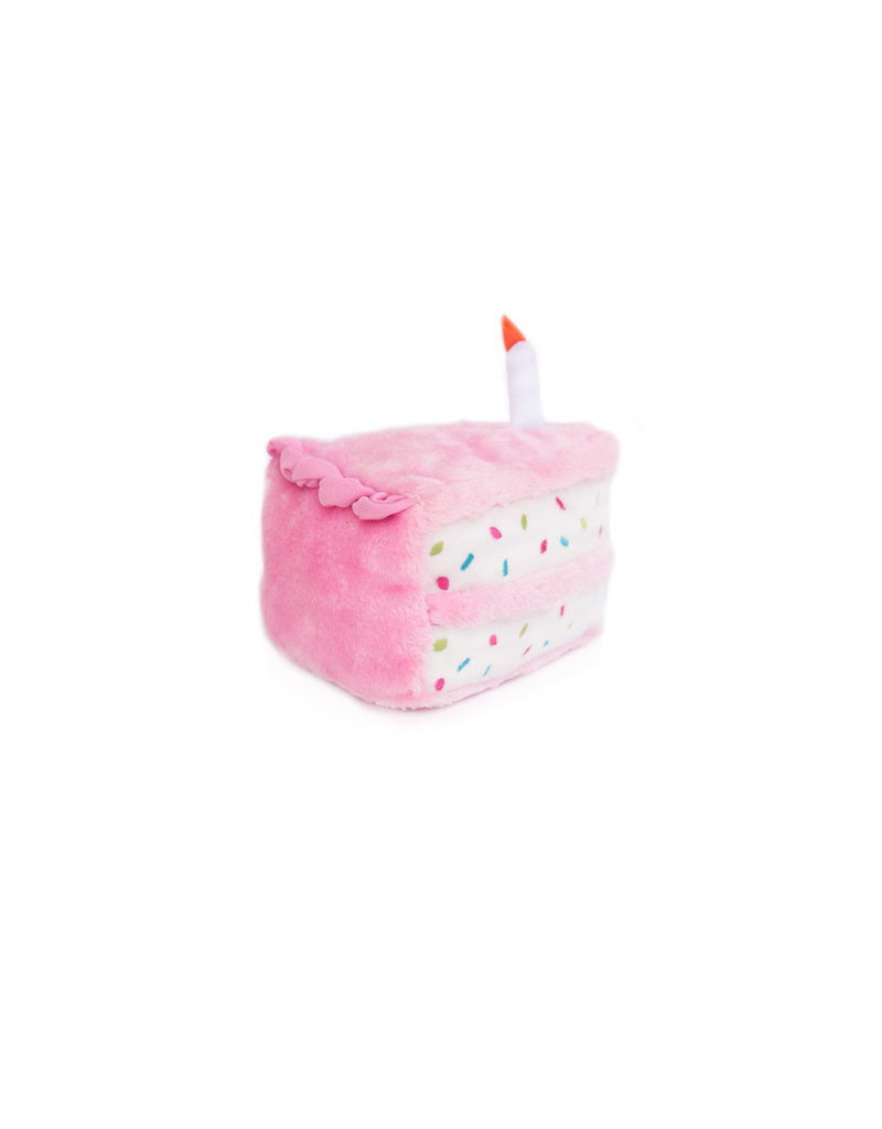 Zippy Paws Plush Toy | Birthday Cake Pink