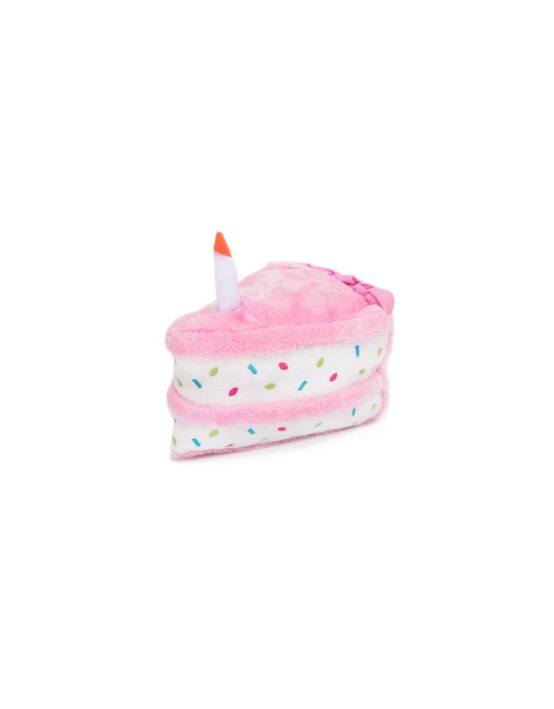 Brilliant Zippy Paws Plush Toy Birthday Cake Pink The Pet Beastro The Funny Birthday Cards Online Drosicarndamsfinfo