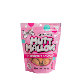 Lazy Dog Cookie Co. Lazy Dog Soft Baked Dog Treats | Mutt Mallows Strawberry Smoochies 5 oz single