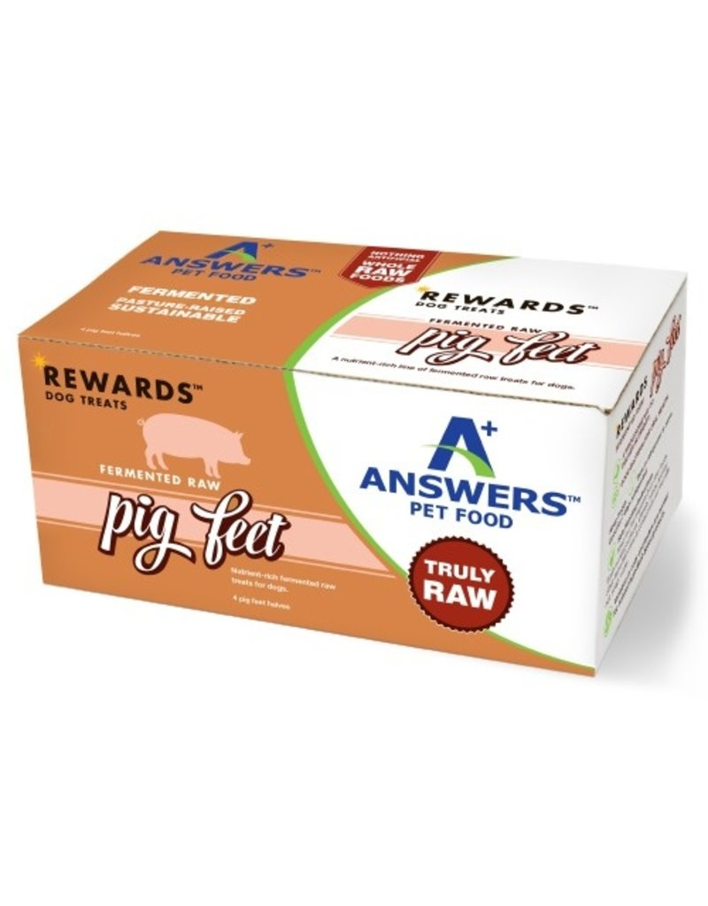 Answer's Pet Food Answers Rewards | Fermented Raw Pig Feet Halves for Dogs 4 ct single (*Frozen Products for Local Delivery or In-Store Pickup Only. *)