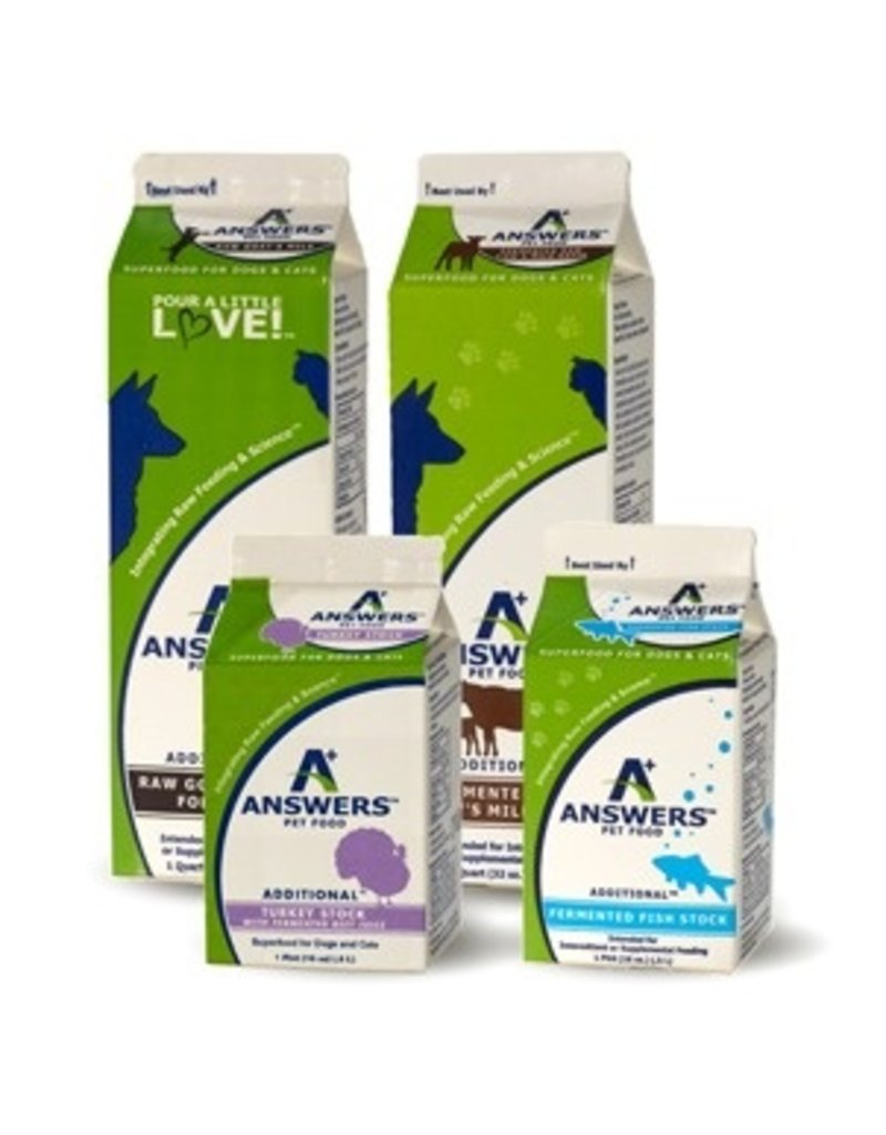 Answer's Pet Food Answers Goat Milk 64 oz CASE (*Frozen Products for Local Delivery or In-Store Pickup Only. *)
