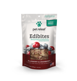 Pet Releaf Pet Releaf Edibites Large Breed Blueberry & Cranberry 7.5 oz