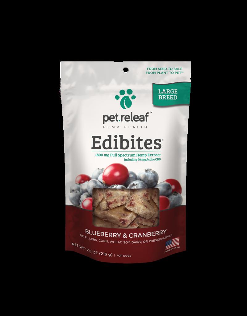 Pet Releaf Pet Releaf Edibites Large Breed Blueberry & Cranberry 7.5 oz