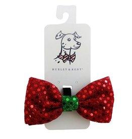Huxley & Kent Huxley & Kent Bow Tie Disco Dot Red Small