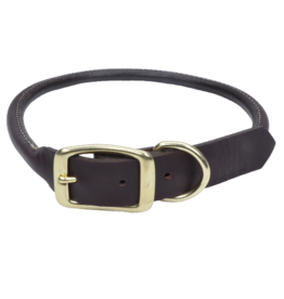 "Coastal Coastal Pet Collar 5/8"" Leather Brass 14"""