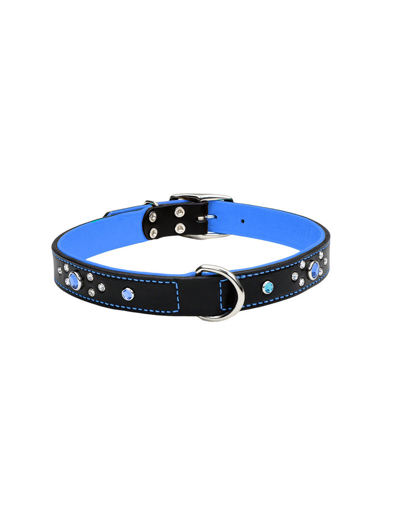 "Coastal Coastal Pet Collar 1/2"" Blue Jewel 10"""