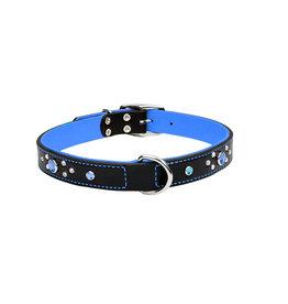 "Coastal Coastal Pet Collar 5/8"" Blue Jewel 16"""