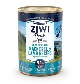 Ziwipeak ZiwiPeak Canned Dog Food Mackerel & Lamb 13.75 oz CASE