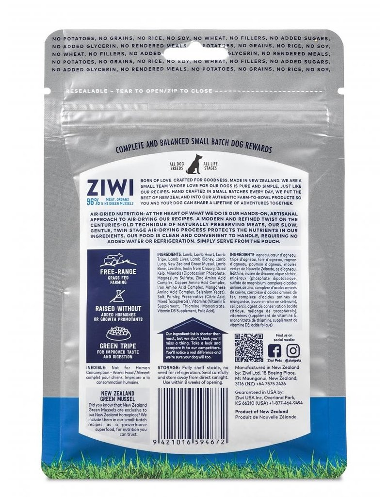 Ziwipeak ZiwiPeak Good Dog Rewards Lamb 3 oz