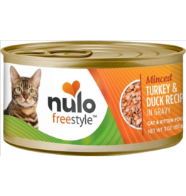 Nulo Nulo FreeStyle Canned Cat Food CASE Minced Turkey & Duck 3 oz