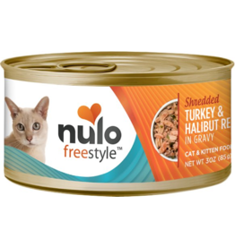 Nulo Nulo FreeStyle Canned Cat Food CASE Shredded Turkey & Halibut 3 oz