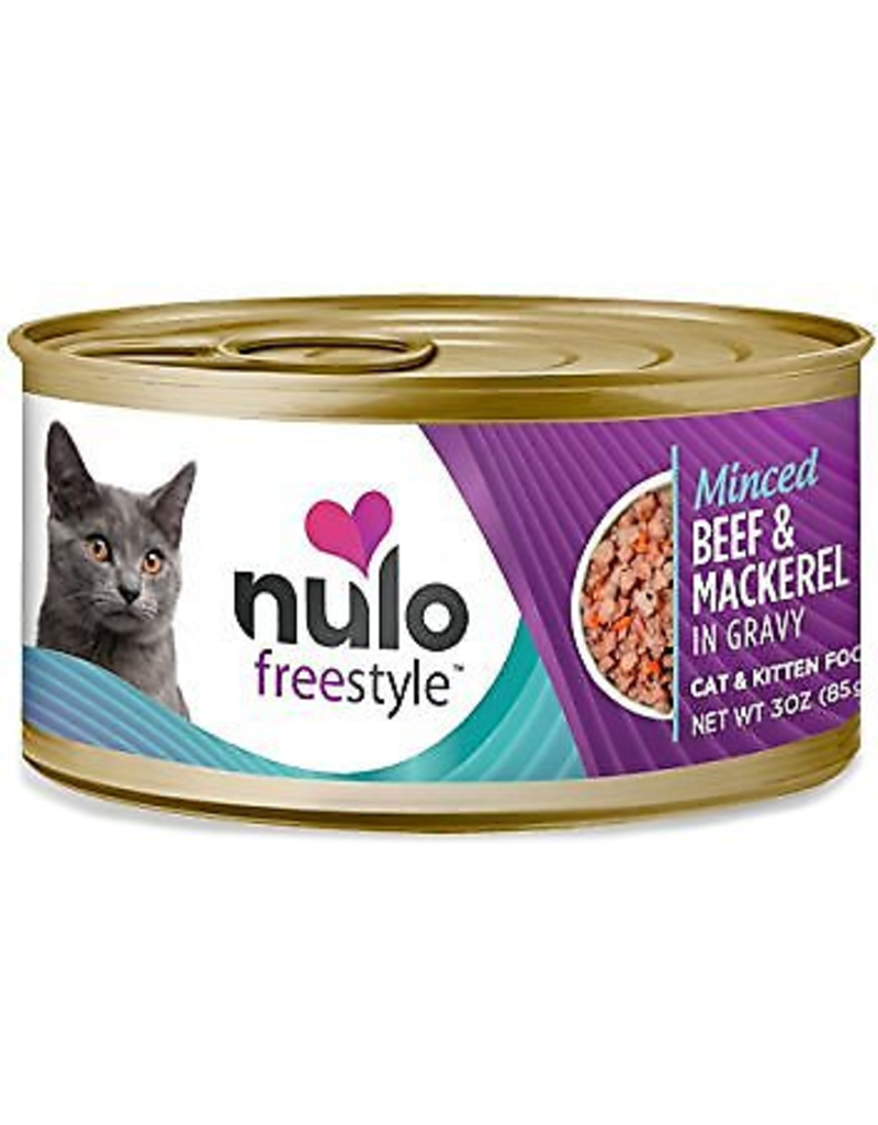 Nulo Nulo FreeStyle Canned Cat Food Minced Beef & Mackerel 3 oz single