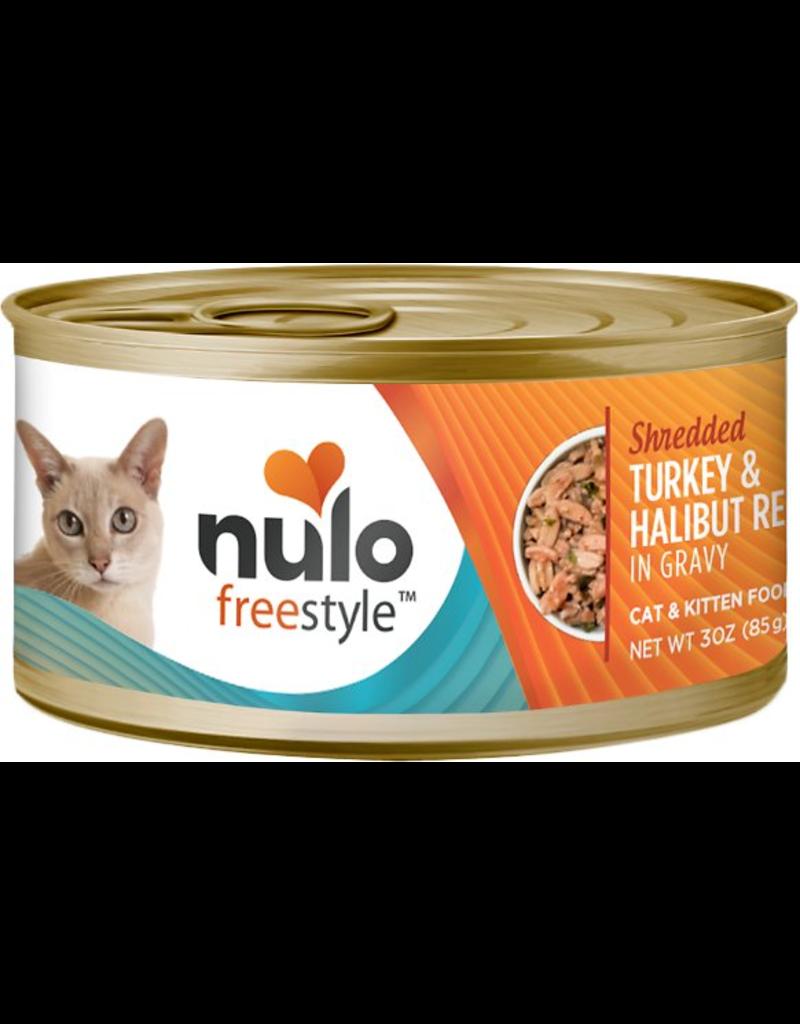 Nulo Nulo FreeStyle Canned Cat Food Shredded Turkey & Halibut 3 oz single