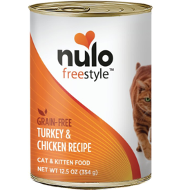 Nulo Nulo FreeStyle Canned Cat Food CASE Turkey & Chicken 12.5 oz