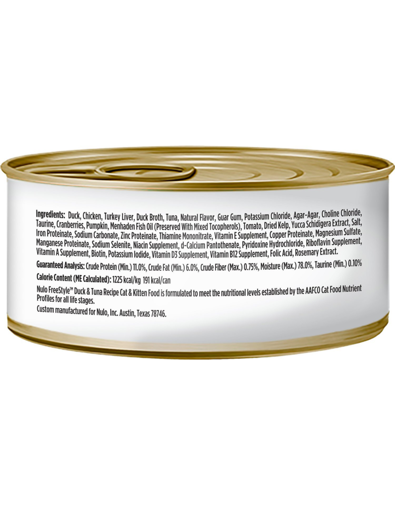 Nulo Nulo FreeStyle Canned Cat Food CASE Duck & Tuna 5.5 oz