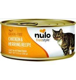 Nulo Nulo FreeStyle Canned Cat Food CASE Chicken & Herring 5.5 oz