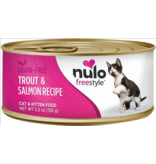 Nulo Nulo FreeStyle Canned Cat Food CASE Trout & Salmon 5.5 oz