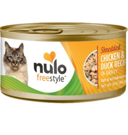 Nulo Nulo FreeStyle Canned Cat Food CASE Shredded Chicken & Duck 3 oz