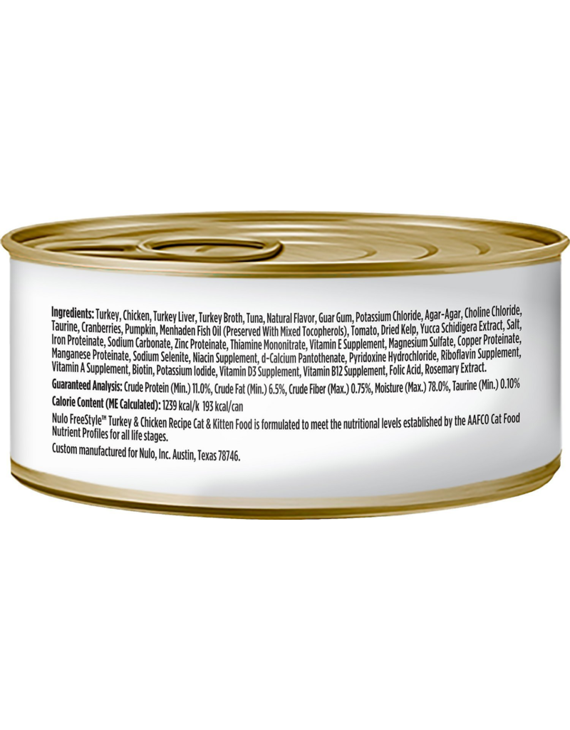 Nulo Nulo FreeStyle Canned Cat Food Turkey & Chicken 5.5 oz single