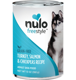 Nulo Nulo Freestyle GF Canned Dog Food CASE Turkey, Salmon & Chickpeas 13 oz