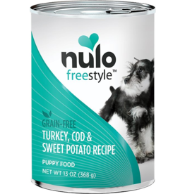 Nulo Nulo Freestyle GF Canned Dog Food CASE Turkey, Cod & Sweet Potato Puppy 13 oz