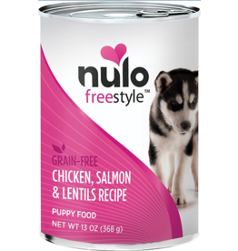 Nulo Nulo Freestyle GF Canned Dog Food CASE Chicken, Salmon & Lentils Puppy 13 oz