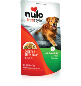 Nulo Nulo Freestyle Dog Pouches CASE Chicken & Green Beans in Broth 2.8 oz