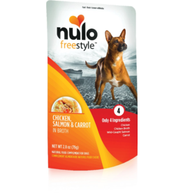 Nulo Nulo Freestyle Dog Pouches Chicken, Salmon, & Carrot in Broth 2.8 oz single