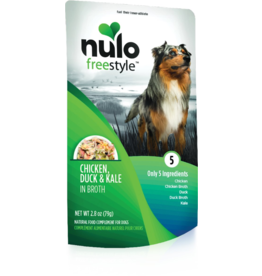 Nulo Nulo Freestyle Dog Pouches CASE Chicken, Duck, & Kale in Broth 2.8 oz