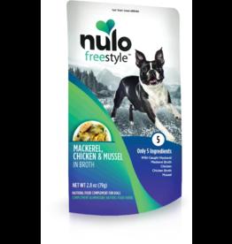 Nulo Nulo Freestyle Dog Pouches CASE Mackerel, Chicken, & Mussel in Broth 2.8 oz