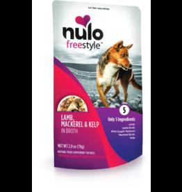 Nulo Nulo Freestyle Dog Pouches CASE Lamb, Mackerel, & Kelp in Broth 2.8 oz