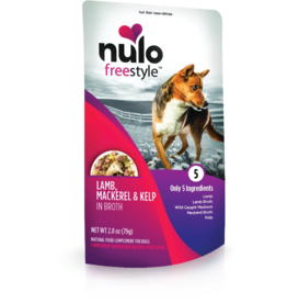 Nulo Nulo Freestyle Dog Pouches CASE Lamb, Saba, & Kelp in Broth 2.8 oz