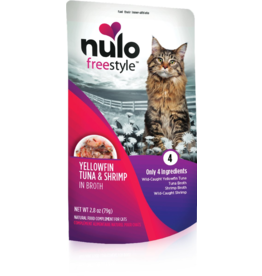 Nulo Nulo Freestyle Cat Pouches CASE Yellowfin, Tuna & Shrimp in Broth 2.8 oz