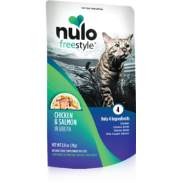 Nulo Nulo Freestyle Cat Pouches CASE Chicken & Salmon in Broth 2.8 oz