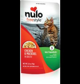 Nulo Nulo Freestyle Cat Pouches | Chicken & Mackerel in Broth 2.8 oz CASE