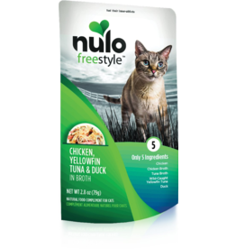 Nulo Nulo Freestyle Cat Pouches Chicken, Yellowfin, Tuna & Duck in Broth 2.8 oz single
