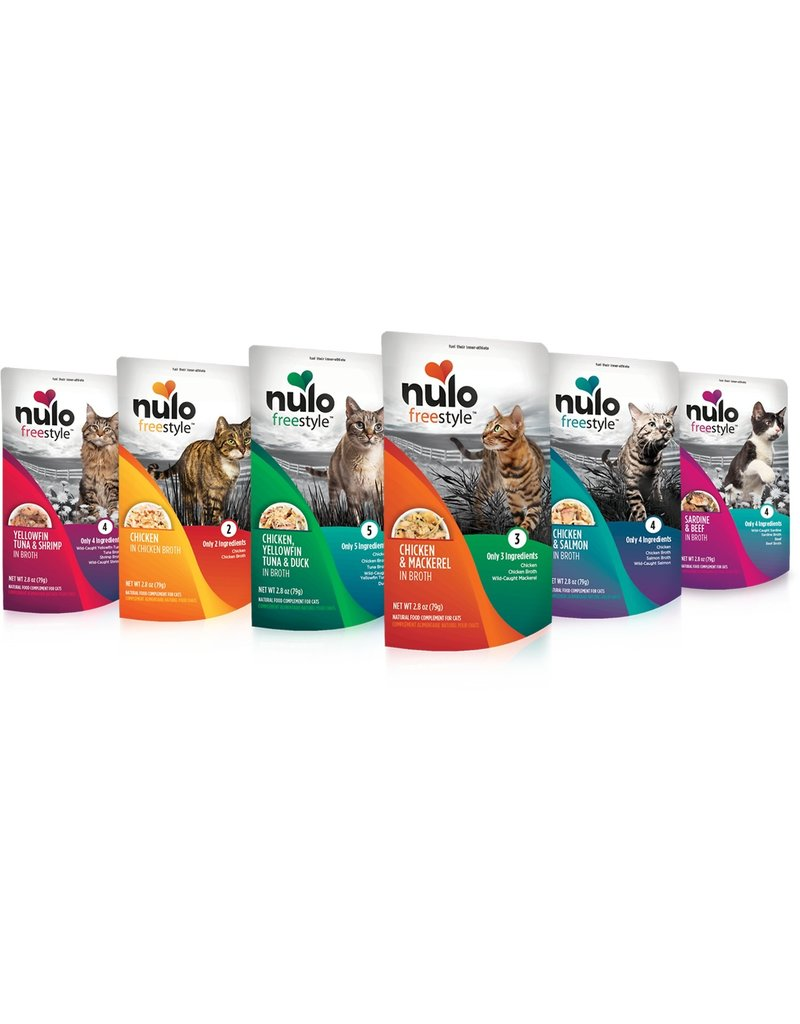 Nulo Nulo Freestyle Cat Pouches Chicken & Salmon in Broth 2.8 oz single