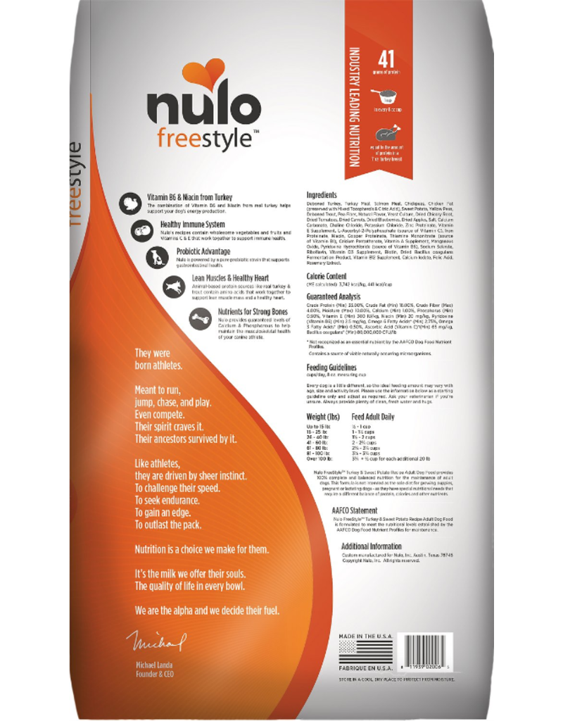 Nulo Nulo Freestyle Dog Kibble Adult Turkey & Sweet Potato 24 lbs