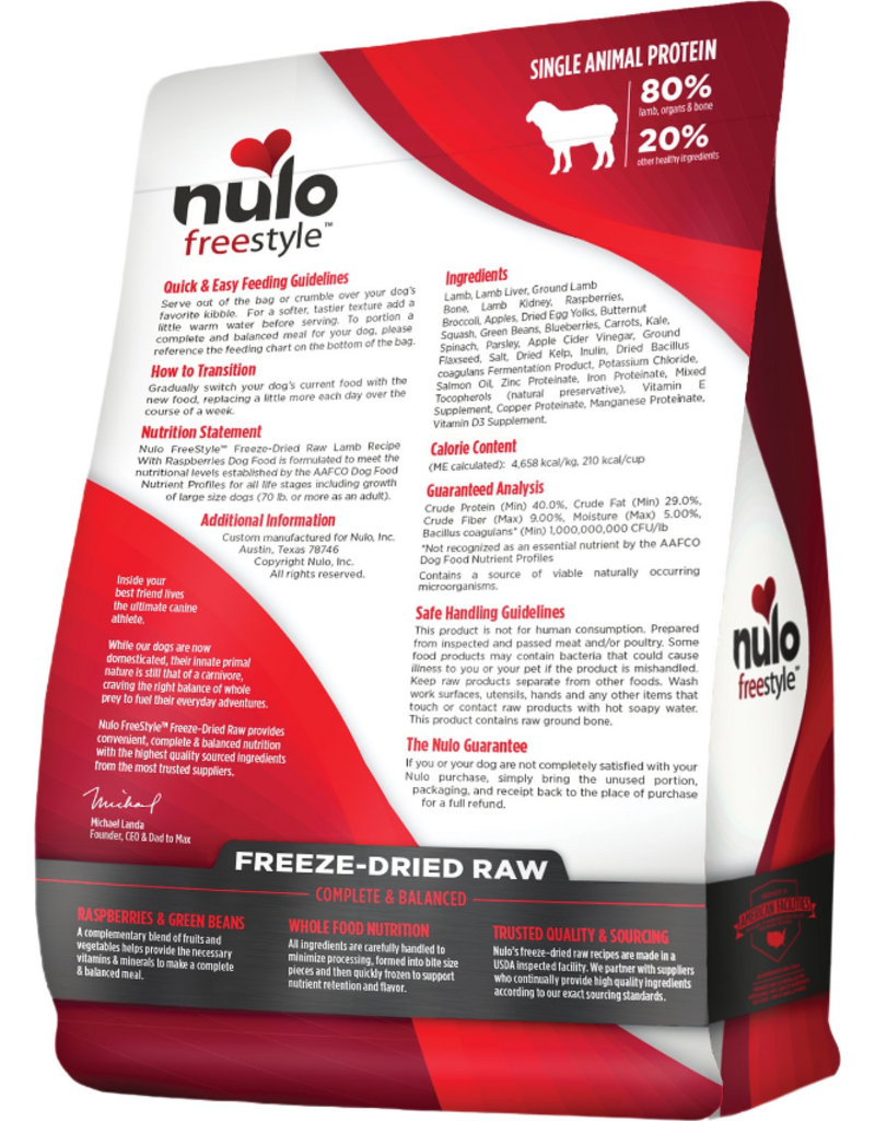 Nulo Nulo Grain-Free Dog Freeze-Dried Raw Lamb 13 oz