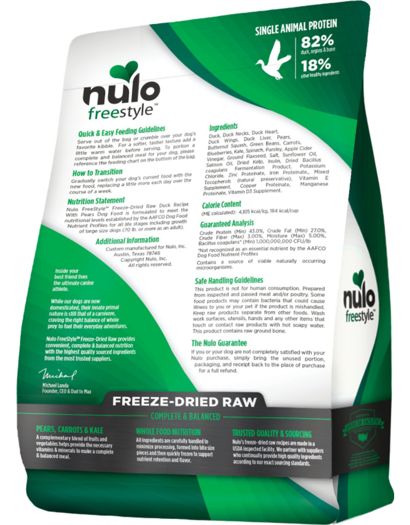 Nulo Nulo Grain-Free Dog Freeze-Dried Raw Duck 13 oz