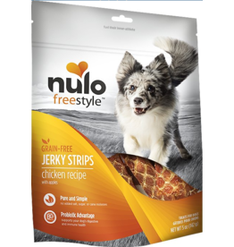 Nulo Nulo Freestyle Grain Free Jerky Strips Chicken w/ Apples 5 oz