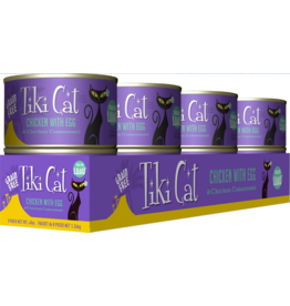 Tiki Tiki Cat Canned Cat Food CASE Koolina Luau (Chicken w/ Egg) 6 oz