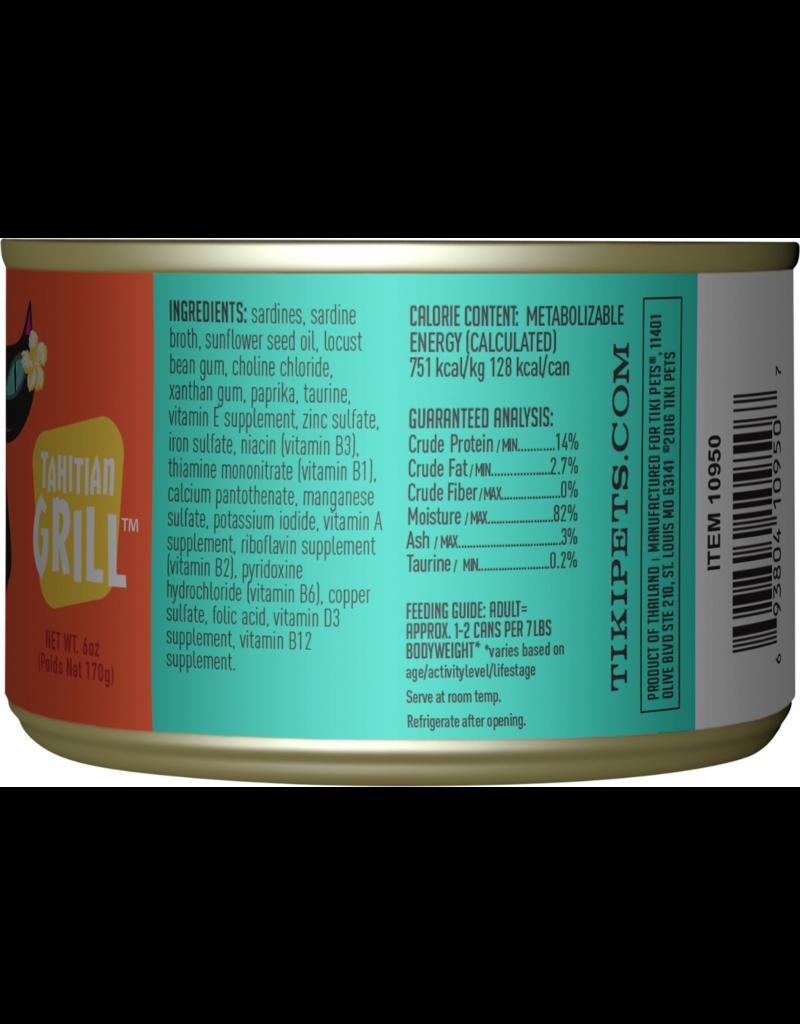 Tiki Tiki Cat Canned Cat Food Tahitian Grill (Sardine Cutlets) 6 oz single