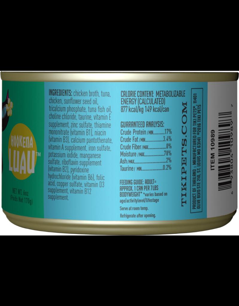 Tiki Tiki Cat Canned Cat Food Hookena Luau (Ahi Tuna & Chicken) 6 oz single