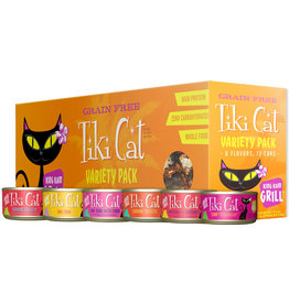Tiki Cat Grill & Luau Canned Cat Food King Kamehameha Variety Pack 2.8 oz